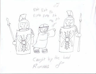 Caught by the bad romans by FeuerKnight