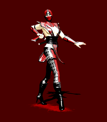 Skarlet MK9 Alternate Costume Pose by anorexianevrosa