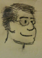 Self-caricature on Post-It by spazahedron