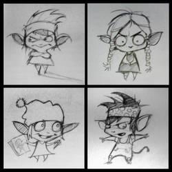 Sketches Maxine by cvelarde