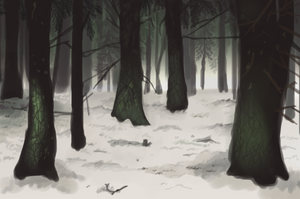 Snowy Trees by Power-hound