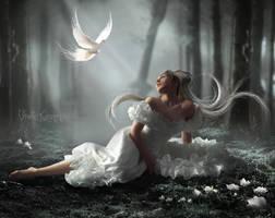 White-Bird by violettQueen