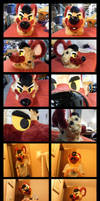 Completed hyena suit head by Indomidodorex