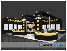 Yalcinlar Exhibition Stand 3D by GriofisMimarlik
