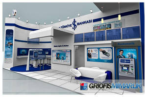 Is Bankasi Exhibition Stand 3D by GriofisMimarlik