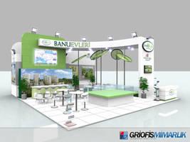 Banu Evleri Exhibition Stand Design 3D by GriofisMimarlik