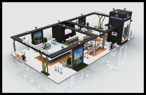 Ortadogu Grup Exhibition Stand Design 3D by GriofisMimarlik