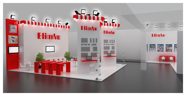 Elimko Exhibition Stand Design 3D by GriofisMimarlik