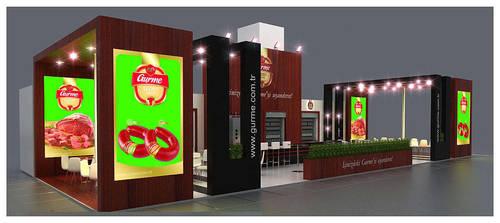 Gurme Exhibition Stand Design 3D by GriofisMimarlik