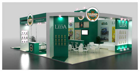 Kale Gida Exhibition Stand Design 3D by GriofisMimarlik
