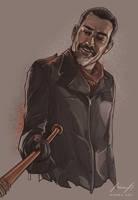 Negan, The Walking Dead by MimmuArt