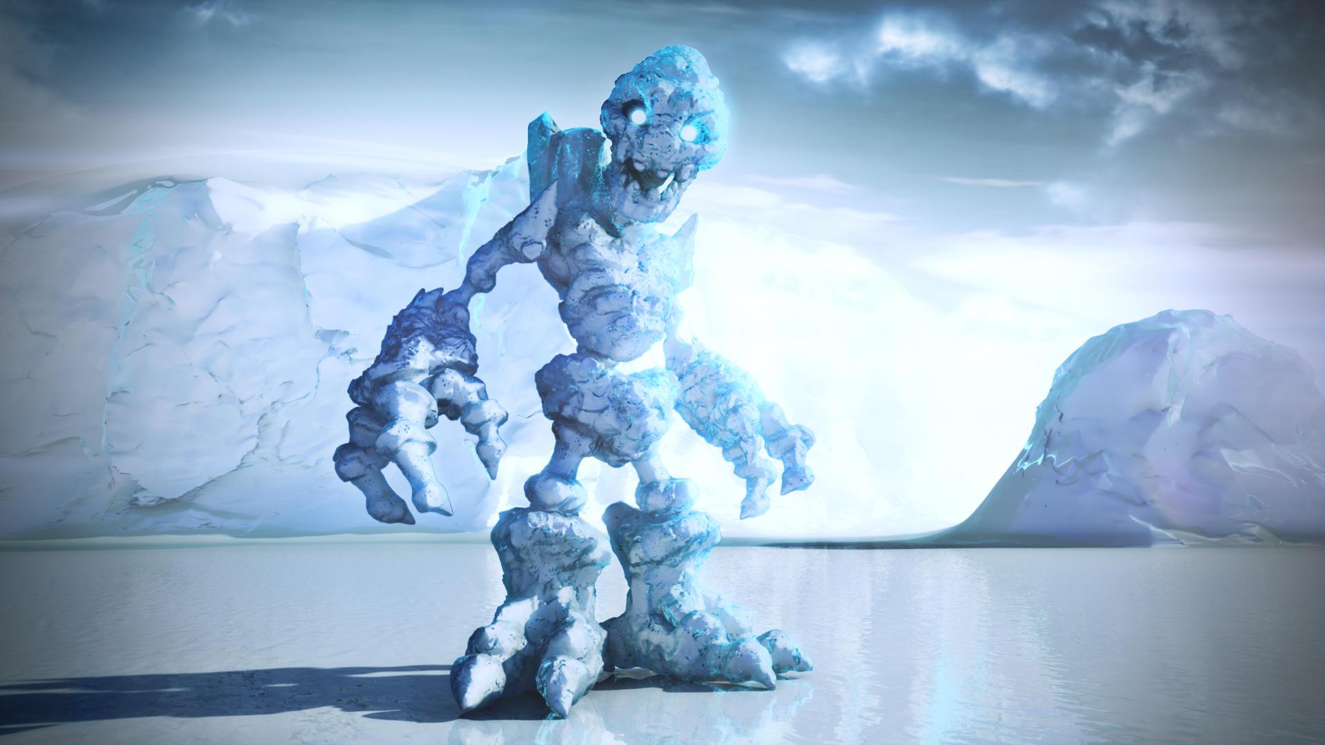 Ice Golem by JAW1002