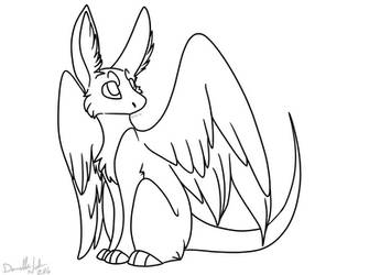 Free Dutch Angel Dragon Lineart by Dundeedog