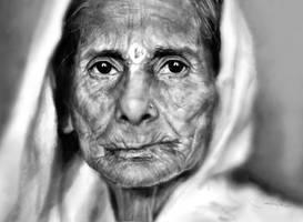 eyes - digital portrait by sanpaiya