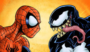 Spider-man vs Venom by edcomics