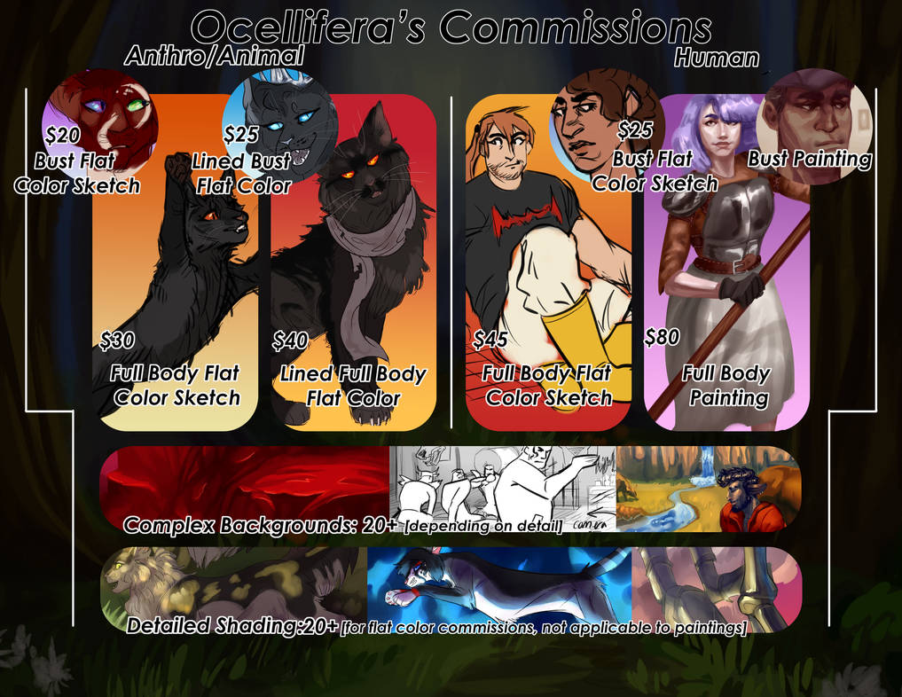 COMMISSION SHEET 2018 [OPEN] by ocellifera