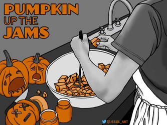 Pumpkin up the Jams by JessiArts
