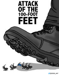 Attack of the 100-foot Feet by JessiArts
