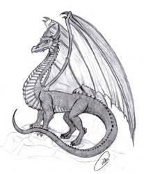 Medieval Dragon by lena-bitty