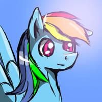 Freestyle Rainbow Dash by Rayhiros