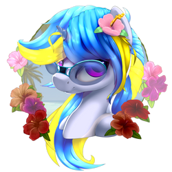 Wave Shine Portrait Glasses by Rayhiros