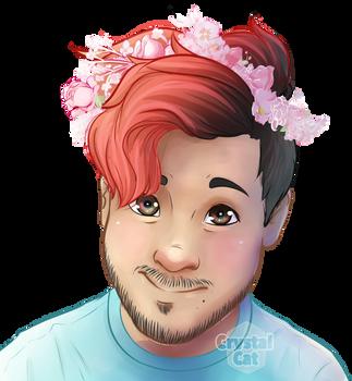 Mark flower crown by CrystalCatArt