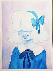 Watercolor Sapphire by CrystalCatArt