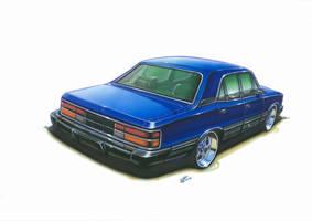 Chevrolet Opala Diplomata - Marker Sketch by williamzporto