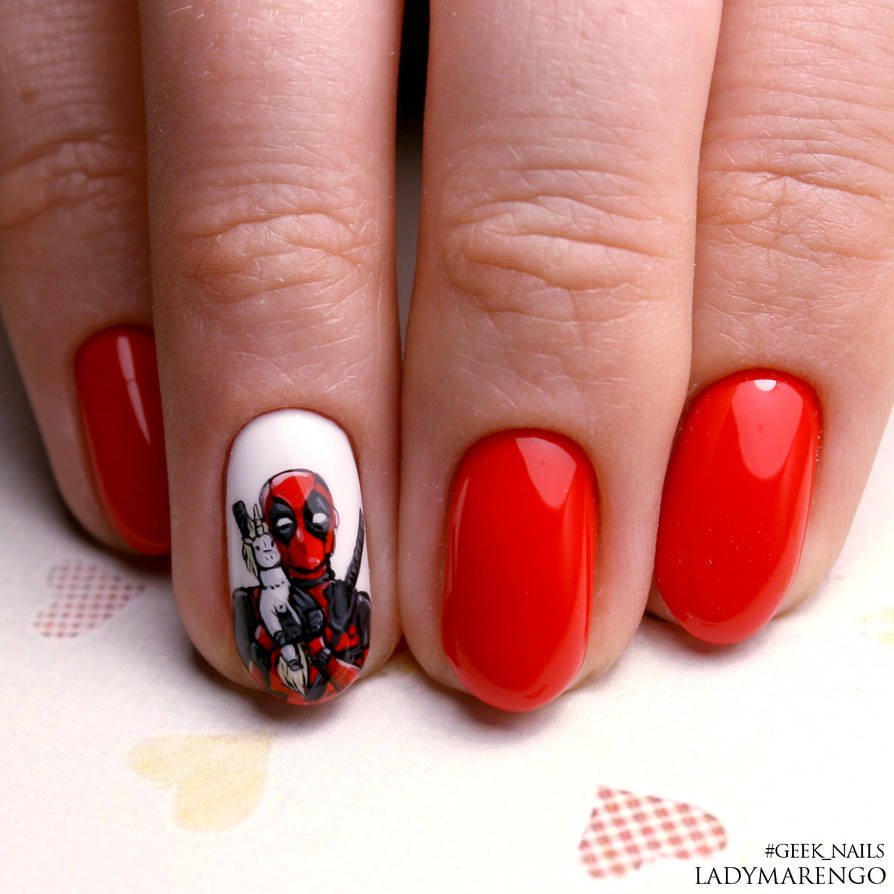 Deadpool nailart by ladymarengo ... - Deadpool Nailart By Ladymarengo On DeviantArt