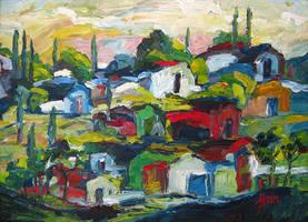 Impasto Landscape by HeinVDMArtist