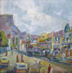 Adderley St 1890s - Cape Town by HeinVDMArtist