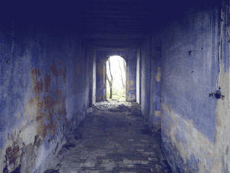 The blue corridor of  dreams by shadethechangingman