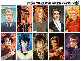 Top Favorite Male Characters 2013 by FluffyFluffs