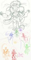 PR-DBZ poster sketch/ideas - by BooRat by BooRat
