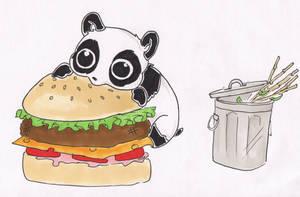 Panda Burger by JellyBeanJam