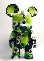 Qee Bear Custom birds - front by Tan-Ki