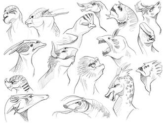 More Creature Sketchies by eychanchan