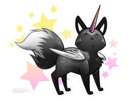 Silver Majestic Fox by eychanchan