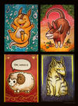 Card Commission Creatures by eychanchan
