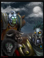 Warcraft Fanart - Horde by eychanchan