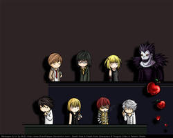 Death Note Chibi Wallpaper by eychanchan