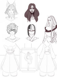 Sketchs And Remake in process by NinaLife31