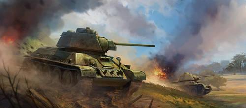 Tank battle by baklaher