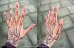 Skeletal hand by AetasRazael134