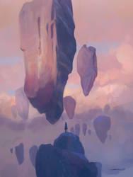 Floating Rocks by ZyrSkar