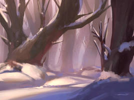 Winter (Process on YouTube) by ZyrSkar