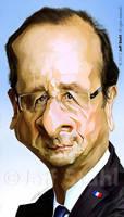Francois Hollande, french president, by Jeff Stahl by JeffStahl
