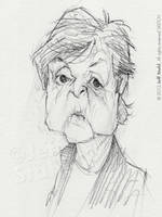 Paul McCartney quick sketch, by Jeff Stahl by JeffStahl