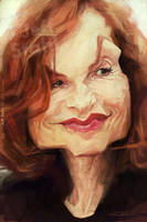 Isabelle Huppert, by Jeff Stahl by JeffStahl