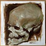 Oil painting skull study III by JeffStahl